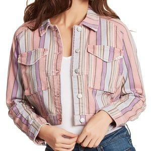 Ella moss rainbow stripe jacket